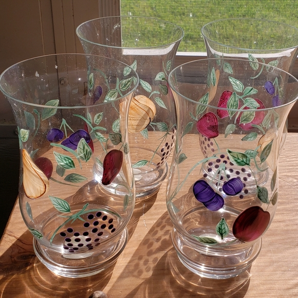 Princess House Other - 4 brand new orchard medley glasses